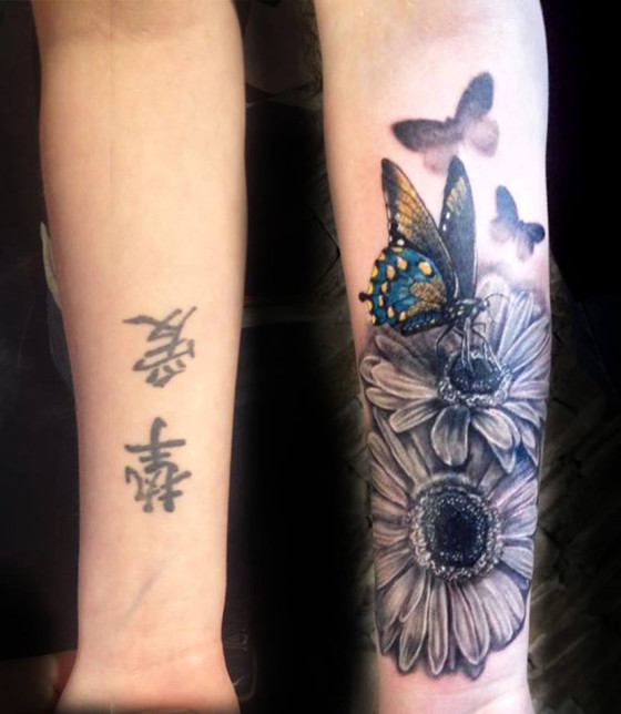 50 cover up tattoos that will stun you instantly for How to cover tattoos