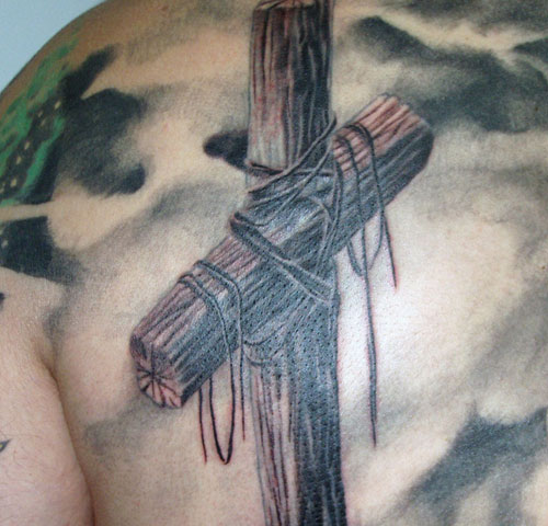 Old Cross Tattoo Image Source Slodive