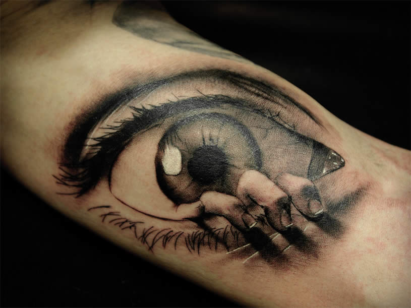 55 beautiful eye tattoo examples that will make you surprised for Eye tattoo images