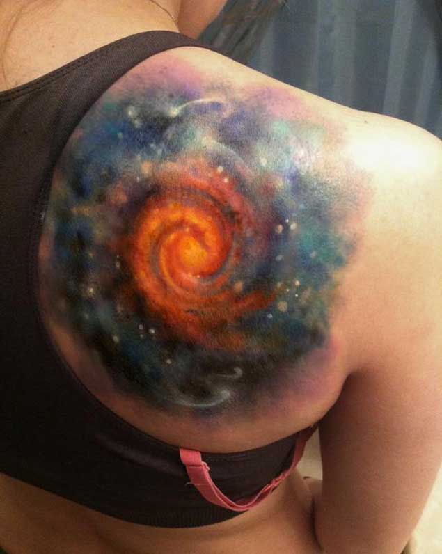 45 galaxy tattoos for out of world experience for Milky way tattoo