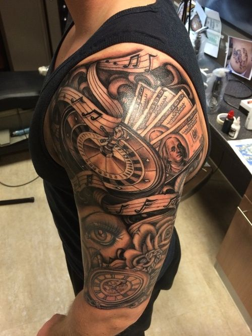 Sleeve Tattoo Image: 50 Half Sleeve Tattoos For Passionate People