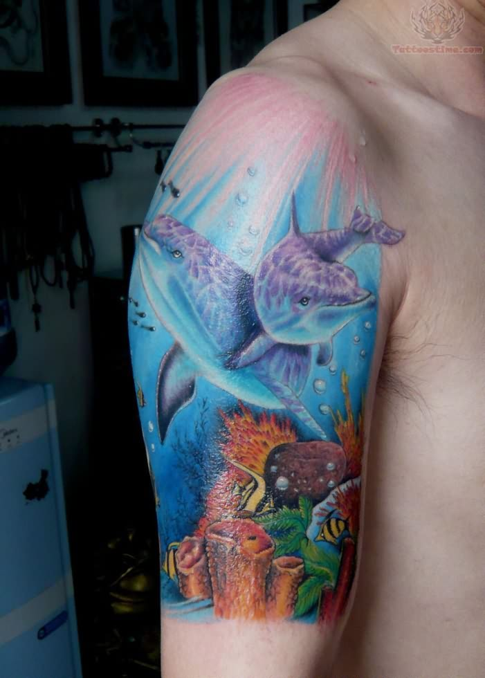 28 ocean tattoos express love with dolphins love for Tattoos to express love