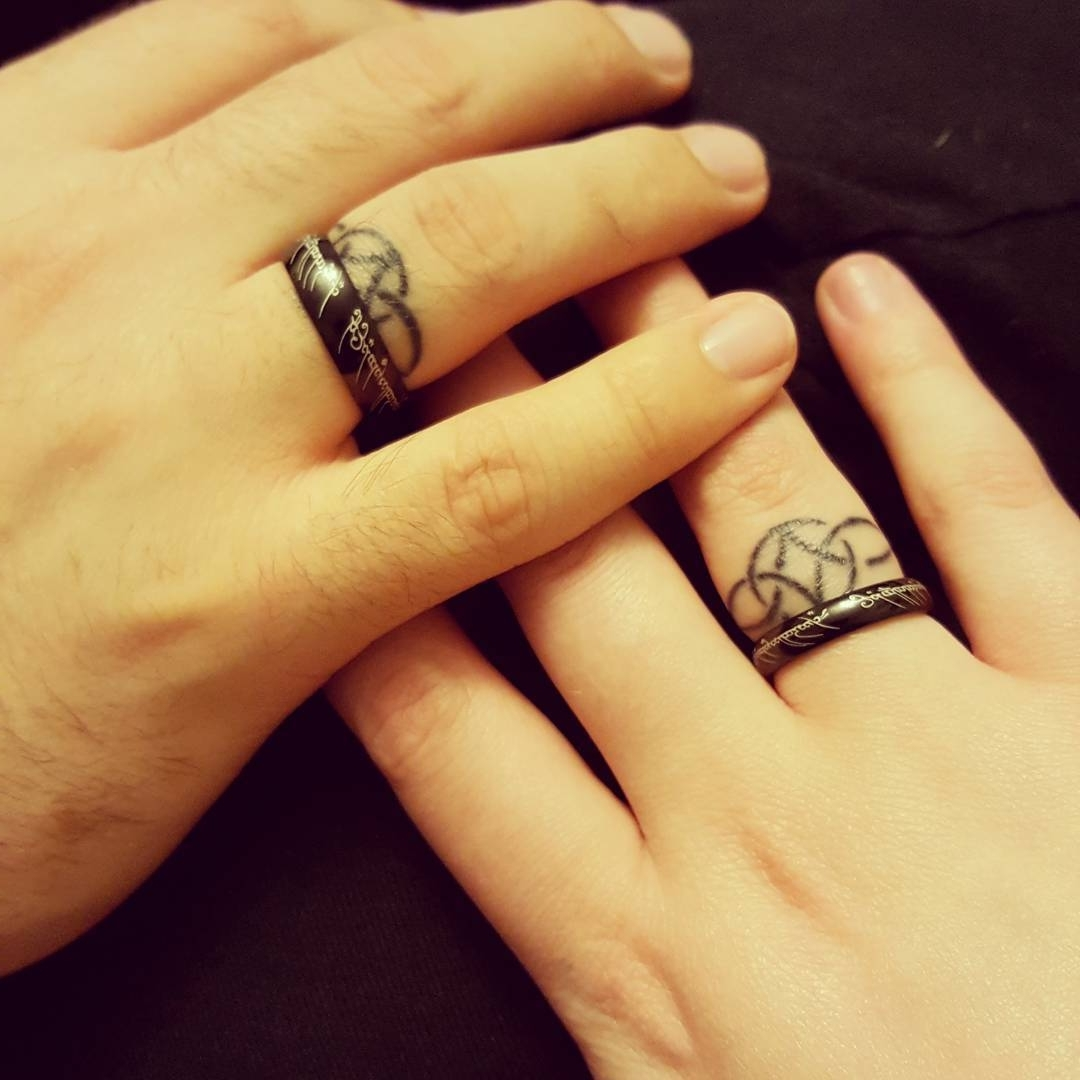 Wedding Ring Tattoos-Couple