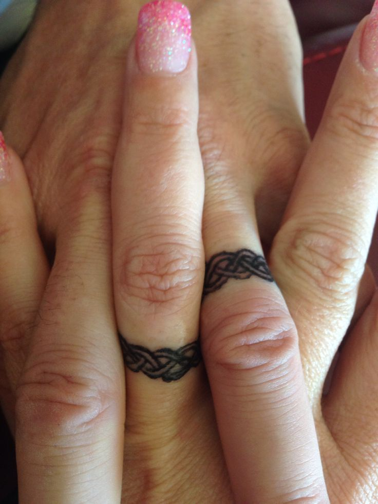 Wedding Ring Tattoos Couple
