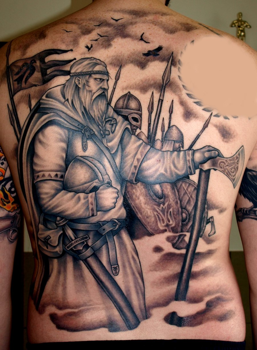 7652477d5 Gorgeous Viking Tattoo. Image Source: Magment
