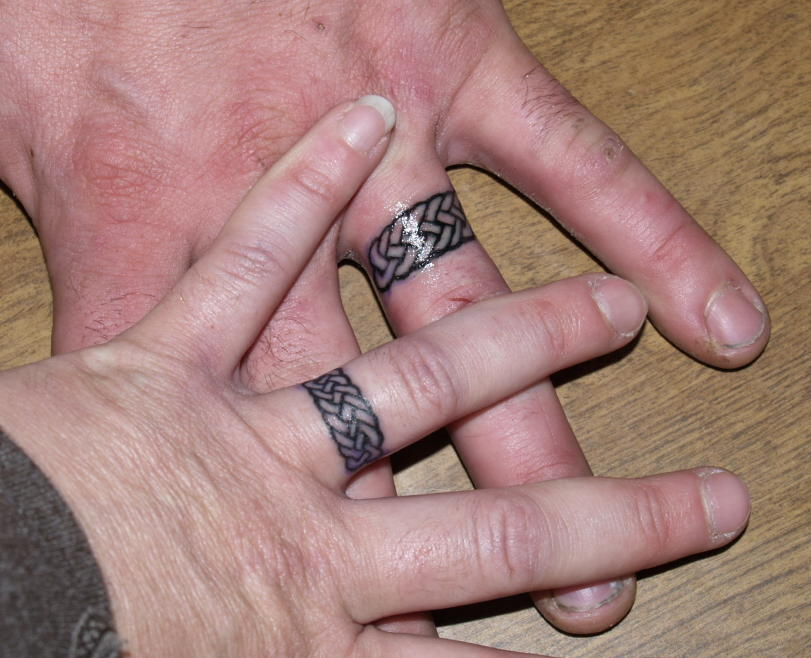 Wedding Ring Tattoos Couple